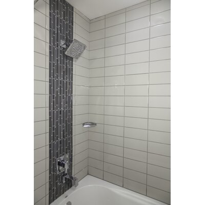 Semplice 6 x 2 Ceramic V-Cap Tile Trim in Biscuit