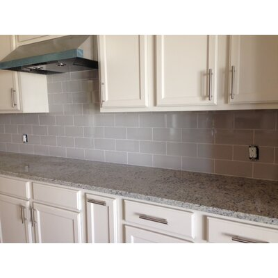 Area 10 x 3 Ceramic Bullnose Tile Trim in Gray