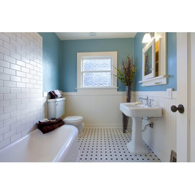 Area 10 x 3 Ceramic Bullnose Tile Trim in White