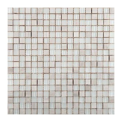 Lucente 0.6 x 0.6/12 x 12 Glass Stone Blend Mosaic Tile in Campo