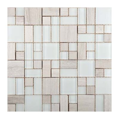 Lucente 13 x 13 Glass Stone Blend Pattern Mosaic Tile in Andrea