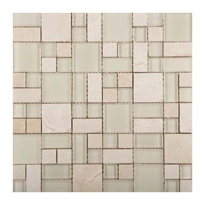 Lucente 13 x 13 Glass Stone Blend Pattern Mosaic Tile in Campo