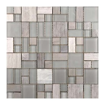 Lucente 13 x 13 Glass Stone Blend Pattern Mosaic Tile in Certosa