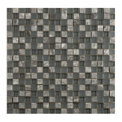 Lucente 0.6 x 0.6/12 x 12 Glass Stone Blend Mosaic Tile in Concordia