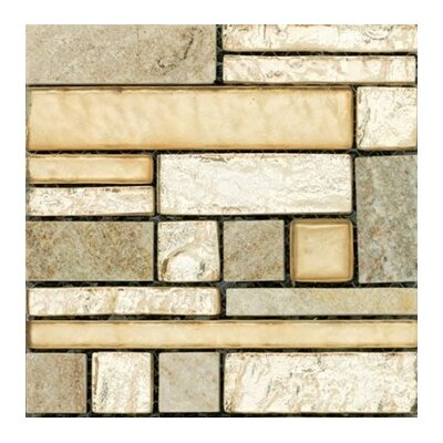 Vista 12 x 12 Glass Stone Blend Pattern Mosaic Tile in Prospect
