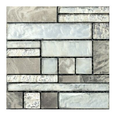 Vista 12 x 12 Glass Stone Blend Pattern Mosaic Tile in Backdrop