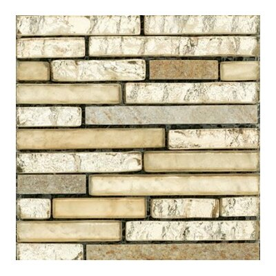 Lucente 12 x 13 Glass Stone Blend Linear Mosaic Tile in Prospect