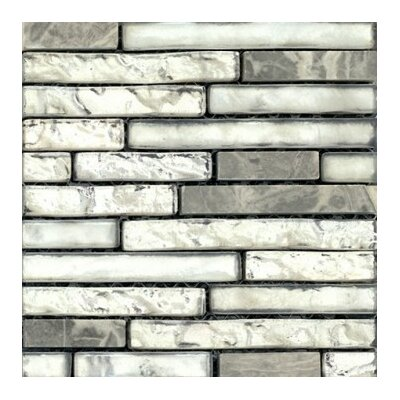 Vista 12 x 13 Glass Stone Blend Linear Mosaic Tile in Backdrop