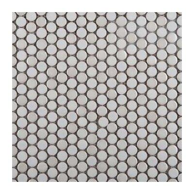 Confetti Porcelain Penny Mosaic Tile in Glazed Matterhorn