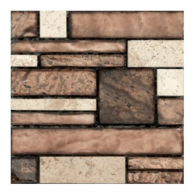 Vista 12 x 12 Glass Stone Blend Pattern Mosaic Tile in Sight