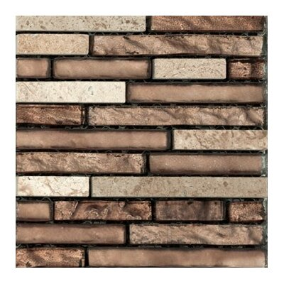 Lucente 12 x 13 Glass Stone Blend Linear Mosaic Tile in Sight