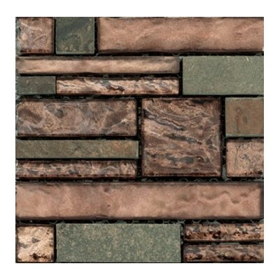 Vista 12 x 12 Glass Stone Blend Pattern Mosaic Tile in View