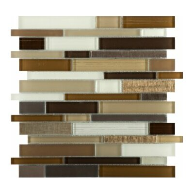 Flash 12 x 12 Glass Linear Mosaic Tile in Radiant