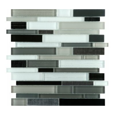 Flash 12 x 12 Glass Linear Mosaic Tile in Sparkling