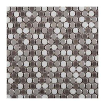 Confetti Porcelain Penny Mosaic Tile in Freddo Blend