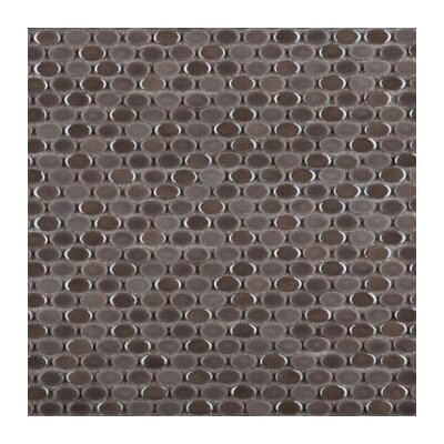 Confetti Porcelain Oval Mosaic Tile in Glazed Gray