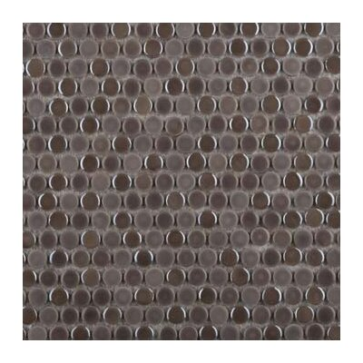 Confetti Porcelain Penny Mosaic Tile in Glazed Taupe