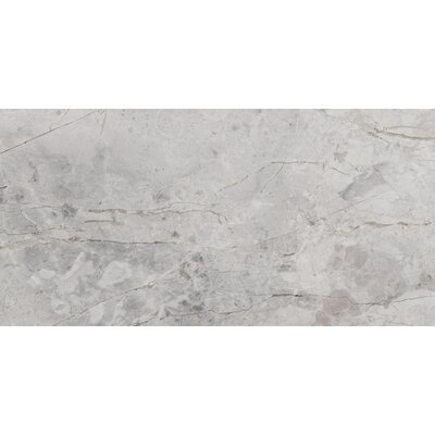Silver 4 x 8 Marble Tile in Silver