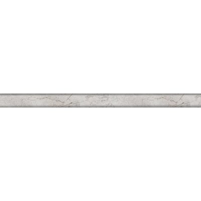 Silver 1 x 12 Marble Tile in Silver