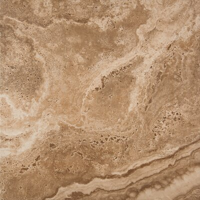 Homestead 18 x 18 Porcelain Field Tile in Noce