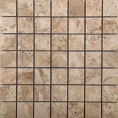Homestead 2 x 2/13 x 13 Porcelain Mosaic Tile in Beige