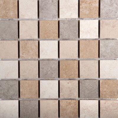 Baja 13 x 13 Ceramic Mosaic Tile in Gray/Brown