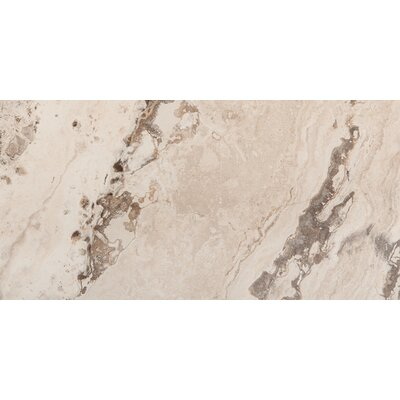 Pergamo 12 x 24 Porcelain Field Tile in Beige