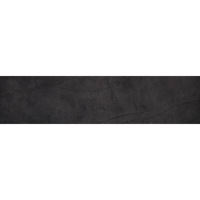 Citadel 6 x 35 Porcelain Field Tile in Black