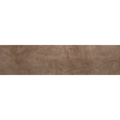 Citadel 6 x 35 Porcelain Field Tile in Brown