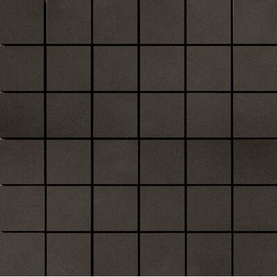 Perspective Pure 12 x 12 Porcelain Mosaic Tile in Charcoal