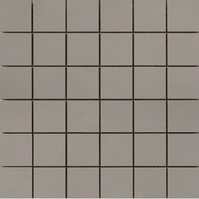 Perspective Pure 12 x 12 Porcelain Mosaic Tile in Gray