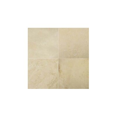Travertine 12 x 12 Filled and Honed Tile in Ivory Classic