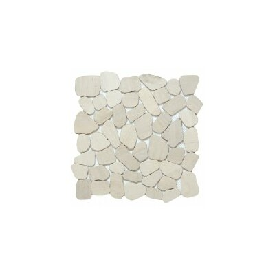 Cultura Pebbles 12 x 12 Mosaic Tile in Ivory