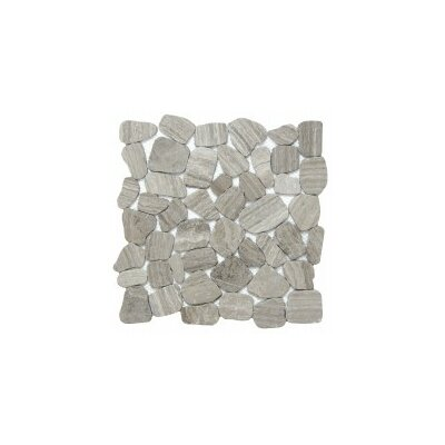 Cultura Pebbles 12 x 12 Mosaic Tile in Gray