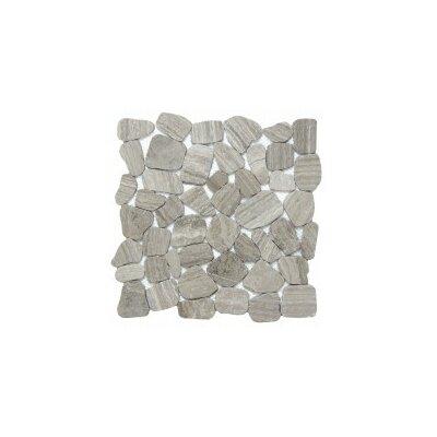 Cultura Pebbles 12 x 12 Mosaic Tile in Gray