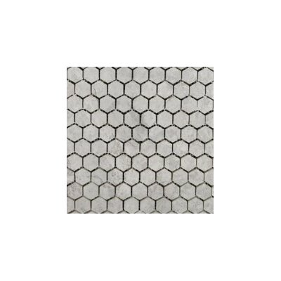 Marble 12 x 12 Hexagon Mosaic Tile in Silver