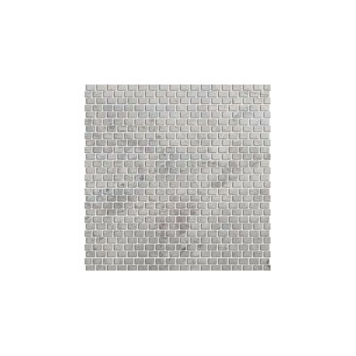 Marble 12 x 12 Mini Offset Mosaic Tile in Silver