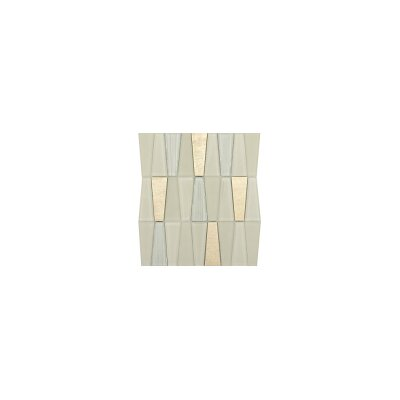Imagine 11 x 12 Glass Stone and Metal Trapezoid Mosaic Tile in Beaming