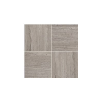 Metro 12 x 12 Limestone Chevron Mosaic Tile in Gray