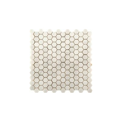 Marble 12 x 12 Hexagon Mosaic Tile in Calacata Oro