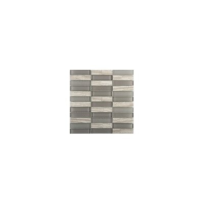Illumina 12 x 12 Glass Stone Blend Mosaic Tile in Halo