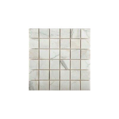 Marble 2 x 2/12 x 12 Mosaic Tile in Calacata Oro