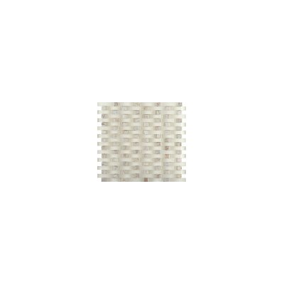Lucente 12 x 13 Glass Stone Blend Wave Mosaic Tile in Servolo