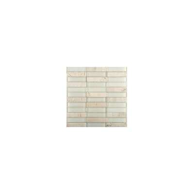 Illumina 12 x 12 Glass Stone Blend Mosaic Tile in Glow