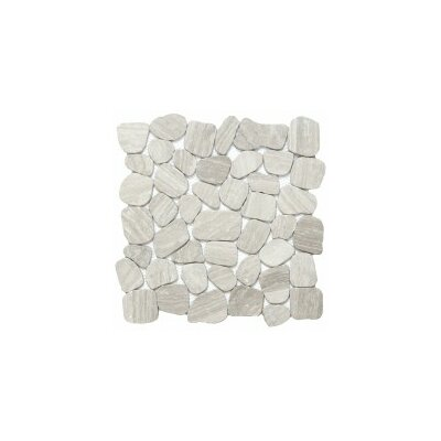 Cultura Pebbles 12 x 12 Mosaic Tile in Cream