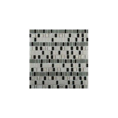 Unique 12 x 12 Glass and Stone Blend Mosaic Tile in Ode