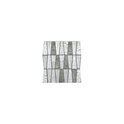 Imagine 11 x 12 Glass Stone and Metal Trapezoid Mosaic Tile in Backdrop
