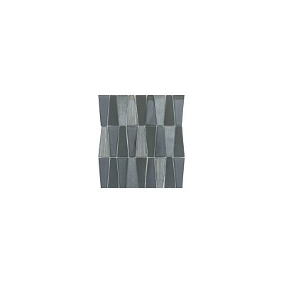 Imagine 11 x 12 Glass Stone and Metal Trapezoid Mosaic Tile in Lambent