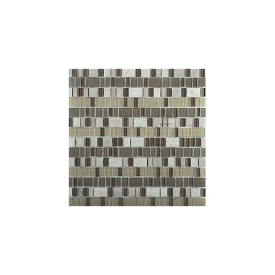 Unique 12 x 12 Glass and Stone Blend Mosaic Tile in Lyric