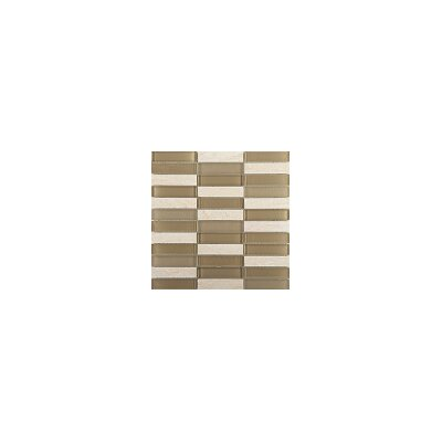 Illumina 12 x 12 Glass Stone Blend Mosaic Tile in Highlight